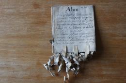 Parchemin 1509  Ville De AHIN   Belgique - Manuscripts