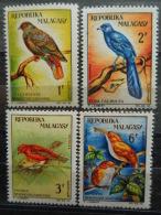 MADAGASCAR 1963 Y&T N° 380 à 383 ** - OISEAUX - Madagascar (1960-...)