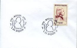 29926 France, Special Postmark  2006  Dijon,  Amadeus Mozart - Music