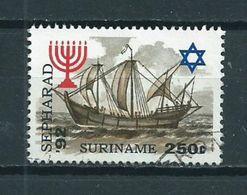 1992 Suriname 250 Cent Sepharad,Israel Used/gebruikt/oblitere - Suriname