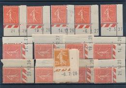 M-693: FRANCE: Lot  De Mini Coins Datés**/* - 1903-60 Sower - Ligned