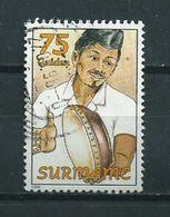 1994 Suriname 75 Gulden Music,muziek Used/gebruikt/oblitere - Suriname
