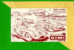 BUVARD & Blotting Paper  :  Cirage De Luxe KIWI  PPZ Voitures  De Course - Automobile