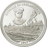 France, Medal, Bataille De L'Atlantique, FDC, Cuivre Plaqué Argent - France
