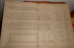 Plan De Caissons De Fondation Système Beaudemoulin, Employés Au Pont Saint-Michel à Paris. 1858 - Public Works