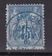 D816/ SAGE N° 90 CACHET BLEU - 1876-1898 Sage (Type II)