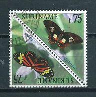 1997 Suriname 75 Gulden Vlinders,papillon,schmetterlinge Used/gebruikt/oblitere - Suriname