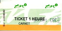 Ticket (carnet) Tramway Et Bus - Nantes - Loire Atlantique - France - Tram