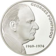 France, Medal, Georges Pompidou, FDC, Cuivre Plaqué Argent - France