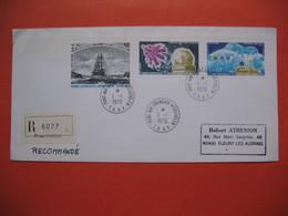 TAAF Lettre Port-Aux-Français - Kerguelen Pour La France N° PA 51 à 53  Du  1/1/1979 Recommandé - French Southern And Antarctic Territories (TAAF)