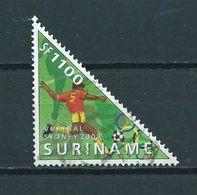 2000 Suriname 1100 Gulden Football,soccer Used/gebruikt/oblitere - Suriname