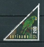 2002 Suriname 200 Gulden Parrot,birds,oiseaux,vögel Used/gebruikt/oblitere - Suriname