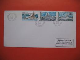 TAAF Lettre  Martin De Vivies - St Paul -AMS  Pour La France N° 74 / 75 Et 77  Du  1/1/1979 - French Southern And Antarctic Territories (TAAF)