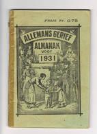 Almanach 1931 Allemans Gerief - Books, Magazines, Comics