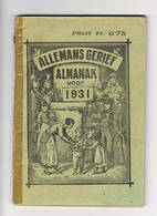 Almanach 1931 Allemans Gerief - Livres, BD, Revues