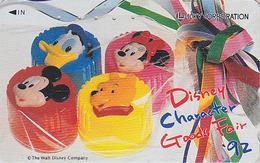 Télécarte Japon / 110-011 - DISNEY - Grand Fair 92 - Ours WINNIE POOH DONALD MICKEY - Japan Phonecard - Disney