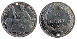 01582 GETTONE JETON TOKEN REPRO COIN PLAY TOKEN REPUBBLIQUE FRANCAISE INDO.CHINE FRANCAISE 10 CENT - France