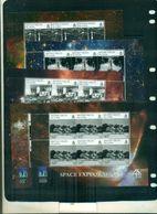 VIERGES 40 HOMME SUR LA LUNE-EXPLORATION DE L'ESPACE 5 MINI-FEUILLES  NEUFS A PARTIR DE 7,50 EUROS - Space