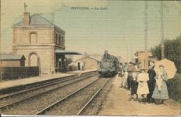 PONTGOIN  La Gare - Gares - Avec Trains