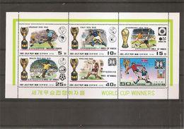 Football - Coupes Du Monde ( 1747/1752 XXX -MNH- De Corée Du Nord En Feuillet ) - Fußball-Weltmeisterschaft