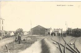 22 SAINT QUAY  La Gare - Gares - Avec Trains