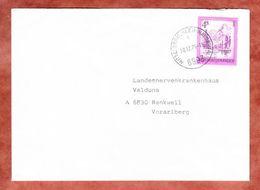 Brief, EF Almsee, Mittelberg Kleinwalsertal Nach Rankweil 1979 (45519) - 1945-.... 2ème République