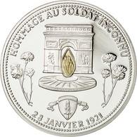 France, Medal, Hommage Au Soldat Inconnu, FDC, Cuivre Plaqué Argent - France