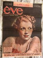 Eve Journal Feminin Mode Actualite Publicites Germaine Aussey 29 Aout 1937 - Andere