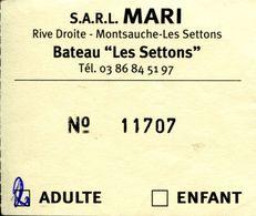 """Bateau """"tickets Pour 2 Personnes"""" Sur Le Lac Des Settons - Nièvre - France - Europa"""