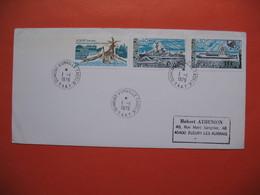 TAAF Lettre Dumont - D'urville - T. Adélie    Pour La France N° 74 / 75 Et 77  Du  1/1/1979 - French Southern And Antarctic Territories (TAAF)