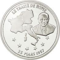 France, Medal, Le Traité De Rome, FDC, Cuivre Plaqué Argent - France