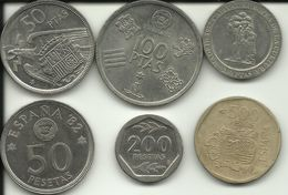 SPAIN - 6 COINS - MANY DIFFERENT - SEE PHOTOS - EXCELLENT PRICE - Spanien