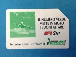 ITALIA SCHEDA TELEFONICA SIP USATA PHONE CARD USED NUMERO VERDE AEREO 5.000 LIRE - Italia