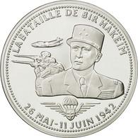 France, Medal, Bataille De Bir Hakeim, FDC, Cuivre Plaqué Argent - France