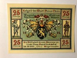 Allemagne Notgeld Plaue Thur 25 Pfennig - [ 3] 1918-1933 : Weimar Republic