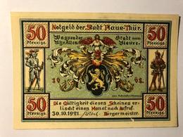 Allemagne Notgeld Plaue Thur 50 Pfennig - [ 3] 1918-1933 : Weimar Republic