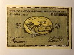 Allemagne Notgeld Plon 25 Pfennig - [ 3] 1918-1933 : Weimar Republic