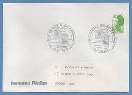 BT Bureau Temporaire 39é Salon Phil Automne Puteaux 1985 / N° 2378 Roulette Liberté Voy TB - Commemorative Postmarks