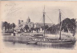14. CAEN . CPA  . LE PORT ET L'ABBAYE AUX DAMES. ANNÉE 1904. - Caen