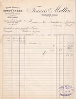 Facture Tissage Francis Mottin Tarare 1901 - France