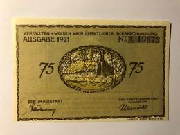 Allemagne Notgeld Plon 75 Pfennig - [ 3] 1918-1933 : Weimar Republic