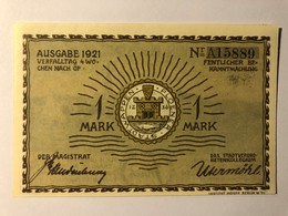 Allemagne Notgeld Plon 1 Mark - [ 3] 1918-1933 : Weimar Republic