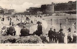 SAINT-MALO - La Grande Plage Et Le Casino - Saint Malo