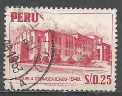 Peru 1952. Scott #462 (U) Engineering School - Pérou
