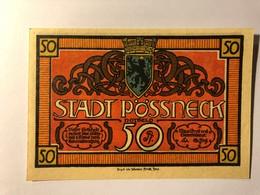 Allemagne Notgeld Possneck 50 Pfennig - [ 3] 1918-1933 : Weimar Republic