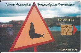 TAAF - Attention Elephant De Mer, Tirage 1500, 04/00, Used - TAAF - French Southern And Antarctic Lands
