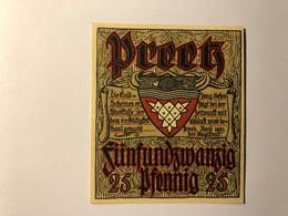 Allemagne Notgeld Preetz 25 Pfennig - [ 3] 1918-1933 : Weimar Republic