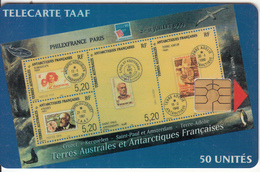 TAAF - Philex France 99(verdatre), Tirage %1500, 07/99, Used - TAAF - Franse Zuidpoolgewesten