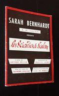 PROGRAMME DU THEATRE DE SARAH BERNHARDT  ARTISTE  ARTISTES  ART  SPECTACLE ARTHUR MILLER MARCEL AYME - Programmi