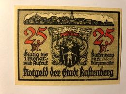 Allemagne Notgeld Rastenberg 25 Pfennig - [ 3] 1918-1933 : Weimar Republic